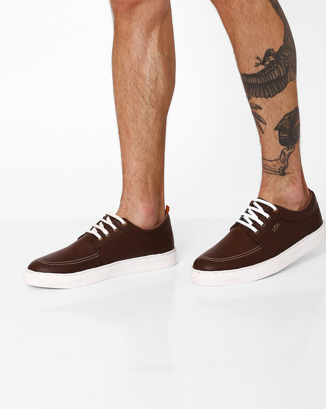 Lace-Up Casual Shoes By BUCKAROO ( Brown )