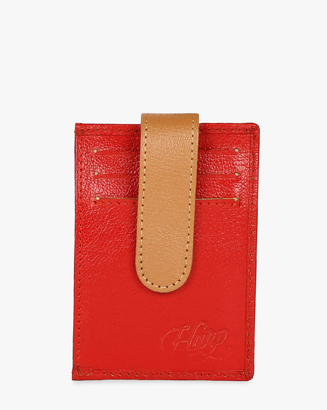 Lebach Unisex Card Holder With ID Slot By Harp ( Red )