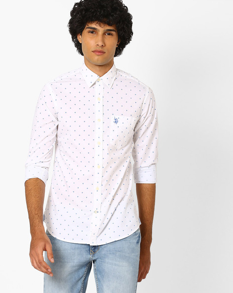 Printed Regular Fit Shirt By US POLO ( Assorted ) - 440759697001