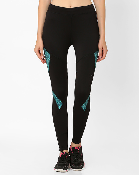 Printed Leggings With Quick Dry By PERFORMAX ( Black )