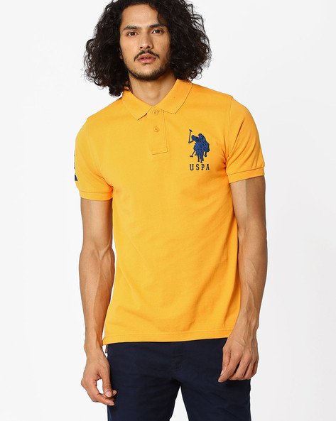 Slim Fit Polo T-shirt By US POLO ( Bronze )