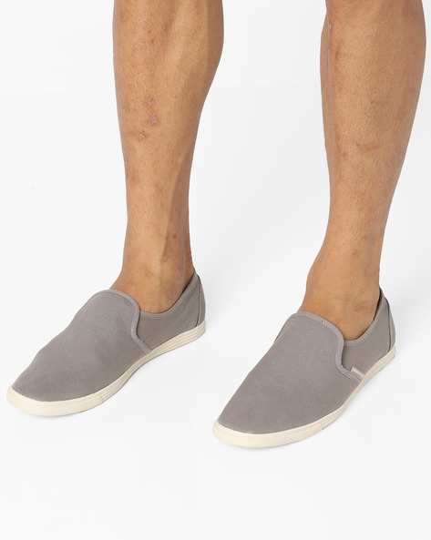Snake Canvas Slip-On Shoes By Jack & Jones ( Darkgrey )
