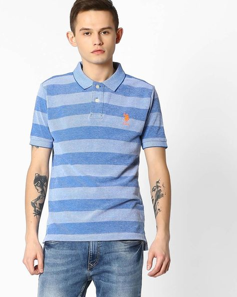 Striped Polo T-shirt By US POLO ( Assorted ) - 440760107001