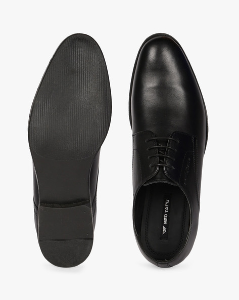 Genuine Leather Derby Shoes By RED TAPE ( Black )