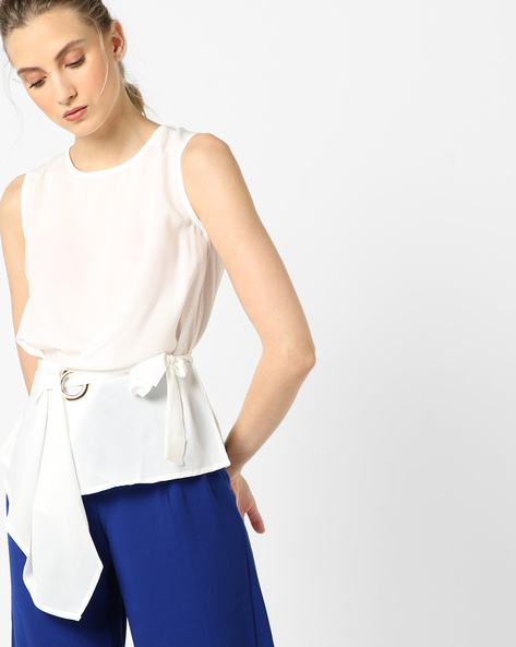 Top With Adjustable Belt By CODE By Lifestyle ( White )