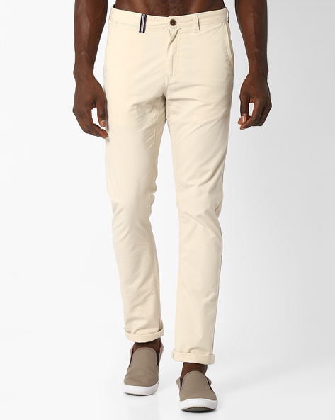 Cotton Slim Chinos By NETPLAY ( Stone )