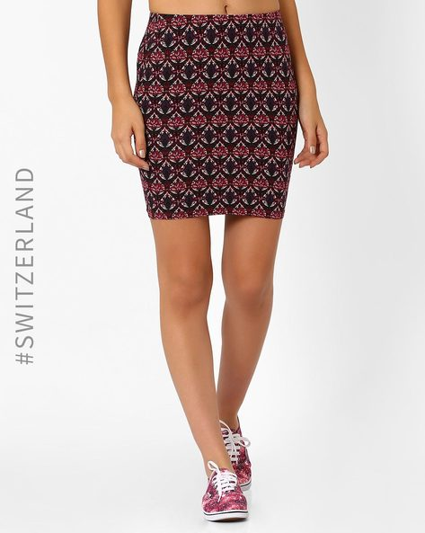 Printed Pencil Skirt By TALLY WEiJL ( Multi )