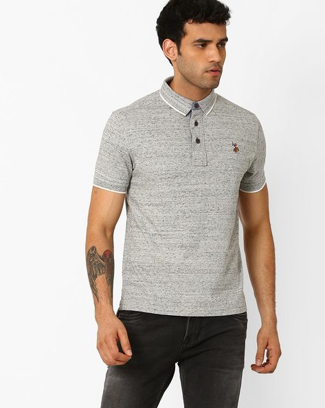 Muscle Fit Polo T-shirt By US POLO ( Grey )