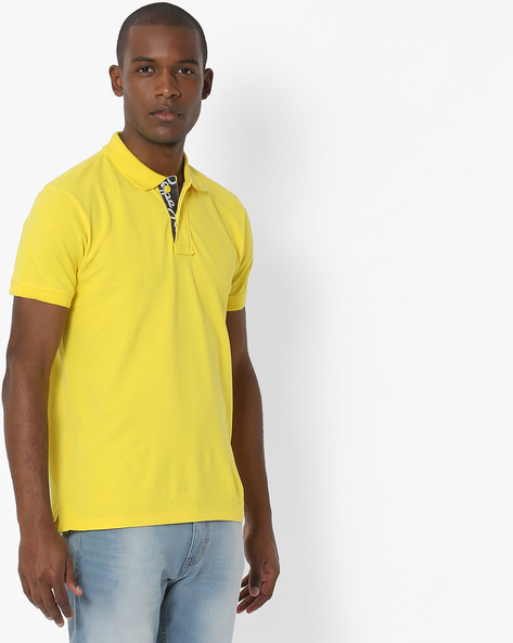 Polo T-shirt With Ribbed Collar By Pepe Jeans ( Yellow )