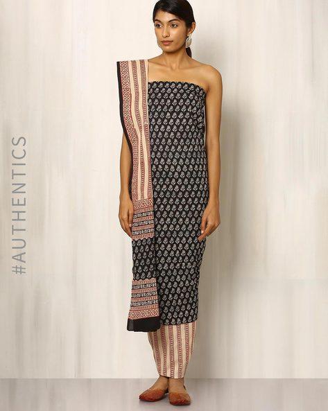 Bagru Print Cotton Dress Material By Indie Picks ( Multi ) - 460016884001