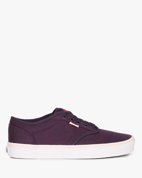 Lace-Up Canvas Shoes By Vans ( Purple )