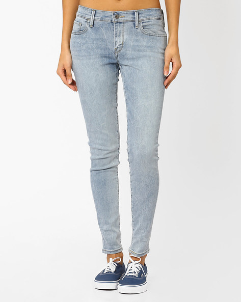 711 Lightly Washed Slim Jeans By LEVIS ( Blue )