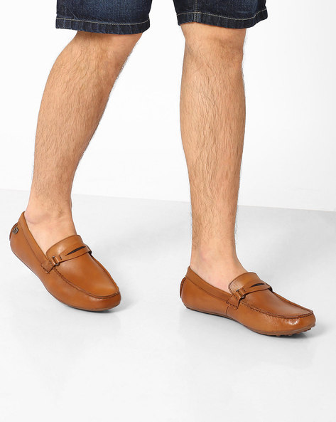 Genuine Leather Loafers By Lee Cooper ( Tan )