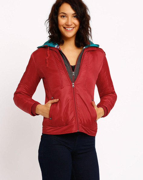 Hooded Jacket By Fort Collins ( Red )
