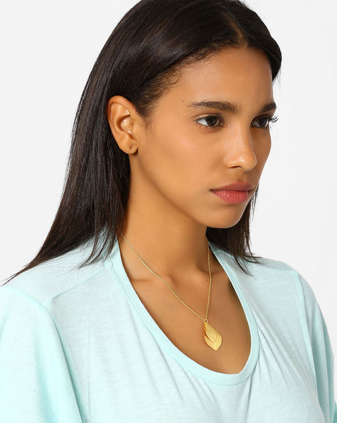 Gold-Plated Chain With Pendant By AJIO ( Gold )