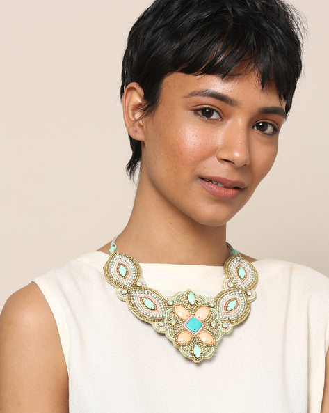 Beaded Statement Necklace By Indie Picks ( Multi ) - 460189723001