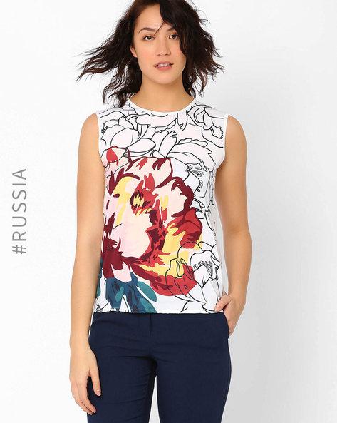 Floral Print Top By Kira Plastinina ( Multi )