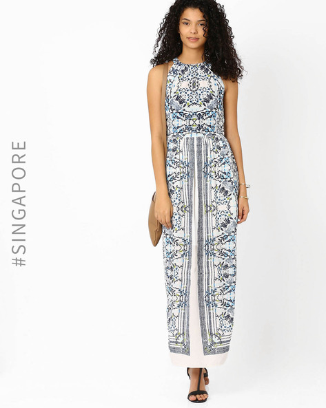 Printed Maxi Dress By MDS ( Multi ) - 460012483005