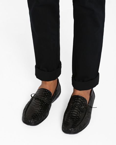 Textured Casual Shoes By Modello Domani ( Black )