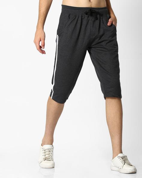 Mid-Rise Shorts With Drawstring Waist By Teamspirit ( Black )