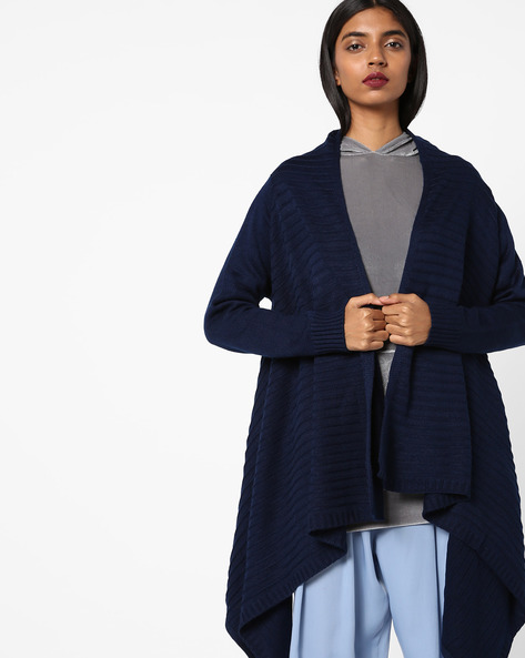 Open-Front Waterfall Shrug By AVAASA MIX N' MATCH ( Navy )