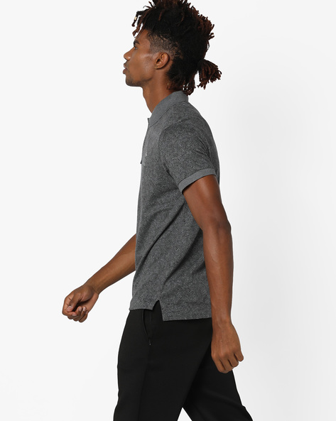 Printed Polo T-shirt With Ribbed Hems By US POLO ( Multi )