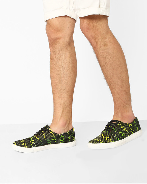 Aztec Print Lace-Up Sneakers By Knotty Derby ( Multi )