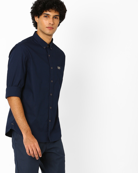 Slim Fit Shirt With Curved Hem By US POLO ( Assorted )