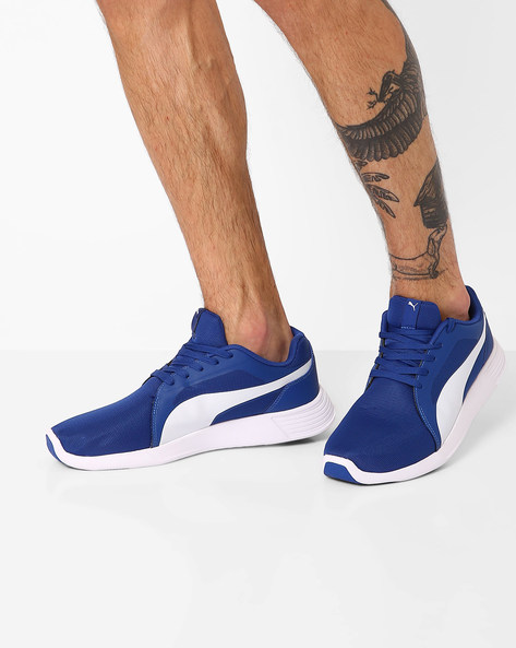 Lace-Up ST Sports Shoes By Puma ( Blue )