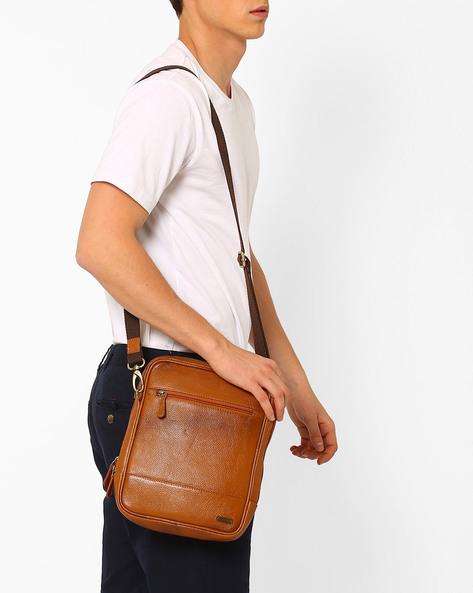 Genuine Leather Sling Bag By TEAKWOOD LEATHERS ( Tan )