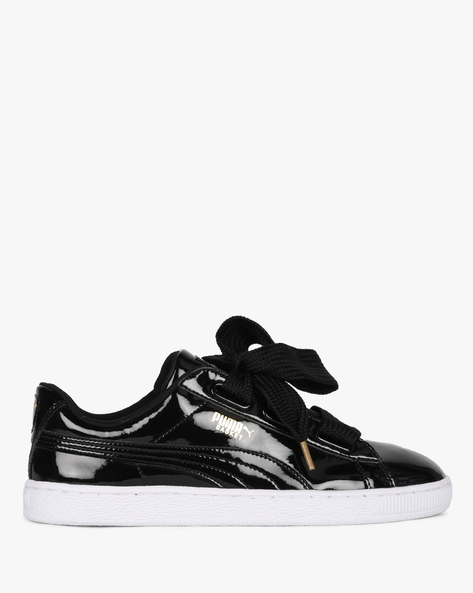 Low-Top Lace-Up Casual Shoes By Puma ( Black )