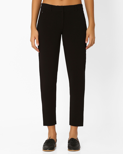 Tapered Ankle-Length Trousers By Vero Moda ( Black )