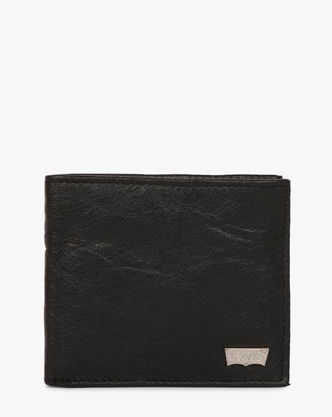 Faux-Leather Bi-Fold Wallet By LEVIS ( Black )