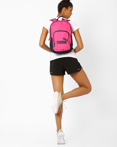 Printed Colourblock Backpack By Puma ( Fuchsia )