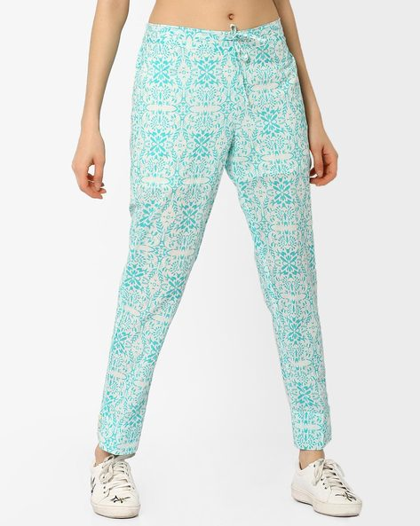 Printed Ankle-Length Trousers By AJIO ( Multi )