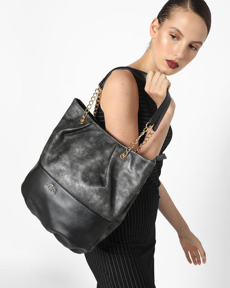 Bucket Bag With Chain Handle By Lavie ( Pewter )