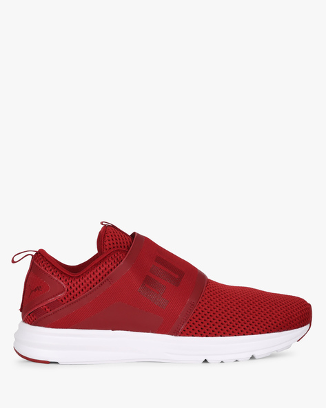 Enzo Strap Mesh Sports Shoes By Puma ( Red )