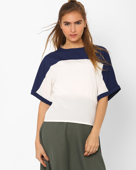 Panelled Boxy Top By CHM ( Dkaqua )