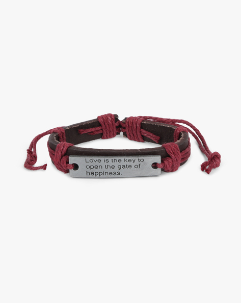 Bracelet With Metallic Accent By ALPHA MAN ( Maroon ) - 460134296001