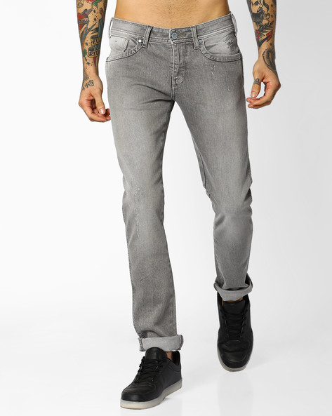 Skinny Fit Philip Jeans By WRANGLER ( Gray )