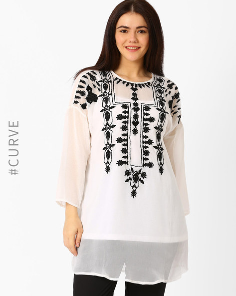 Embroidered Tunic By Oxolloxo ( White )