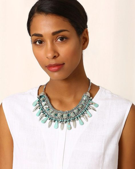 Beaded Statement Necklace By Indie Picks ( Multi )