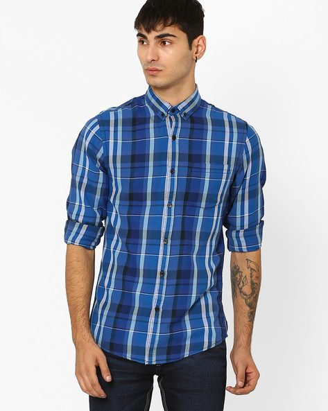 Slim Fit Checked Shirt By ADAMO LONDON ( Multi ) - 460047512003