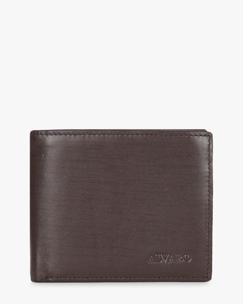 Textured Genuine Leather Bi-Fold Wallet By ALVARO CASTAGNINO ( Brown )