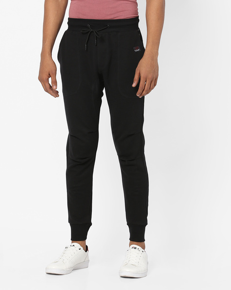 Panelled Joggers With Elasticated Waistband By PROLINE ( Black )