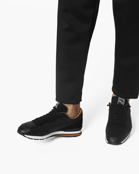 Casual Shoes With Lace-Up Fastening By Puma ( Black )