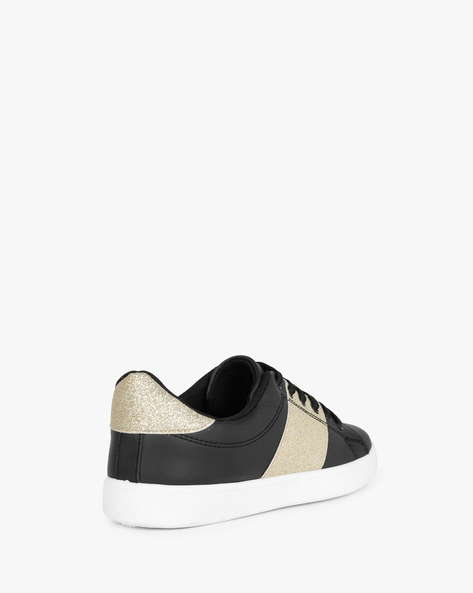 Panelled Lace-Up Shoes By Lavie ( Black )