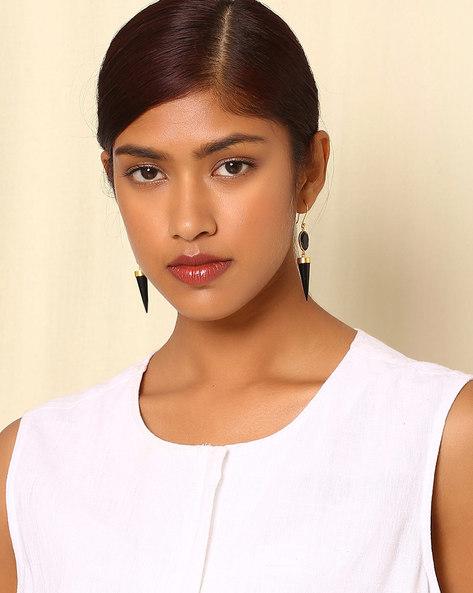 Gold-Plated Brass Drop-Earrings By Indie Picks ( Multi ) - 460045163001