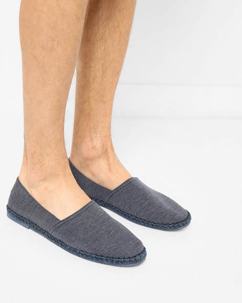 Woven Slip-On Espadrilles By AJIO ( Navy )