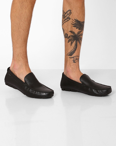 Genuine Leather Loafers By RED TAPE ( Black )